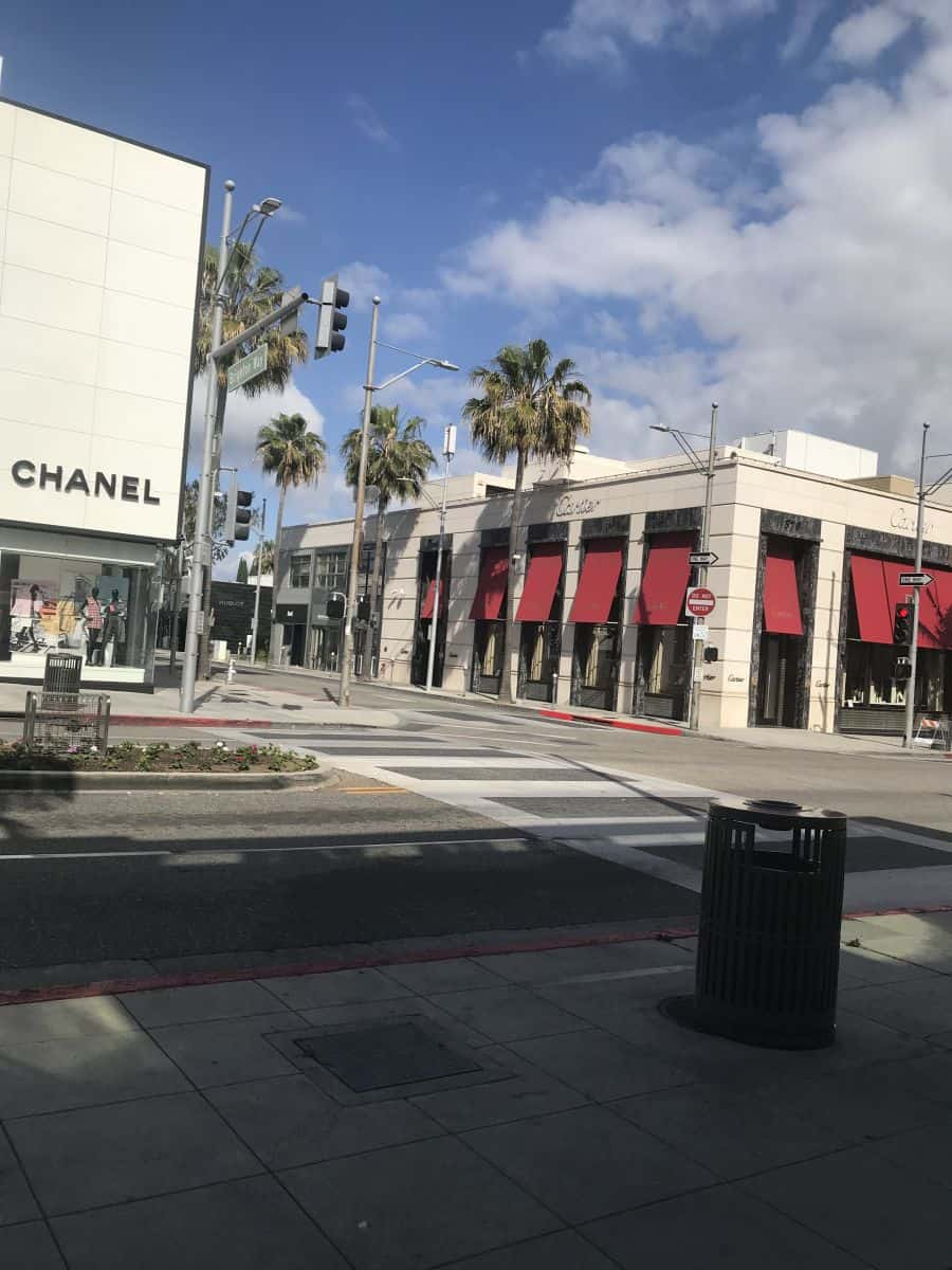 Downtown Beverly Hills California, Rodeo Drive all businesses are 'non-essential' - April 17, 2020., photo credit Nurit Greenger