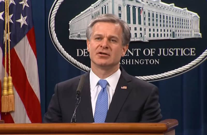 christopher wray, FBI. Apple supports Alshamrani and other savage terrorists.