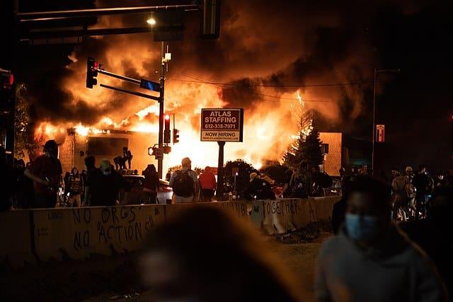 Black lives matter riot, USA May 2020