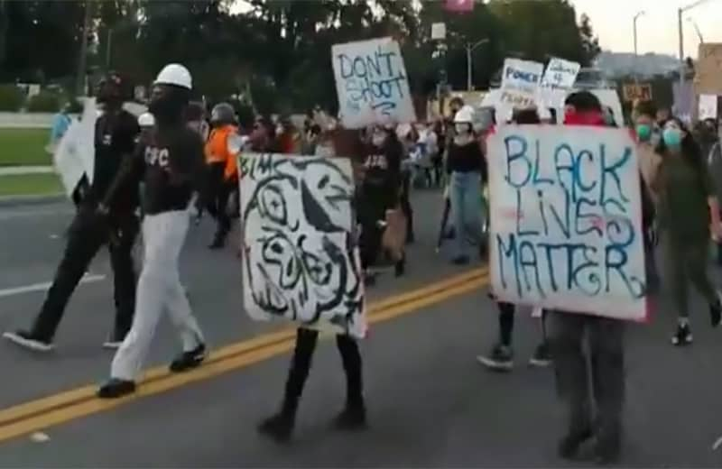 beverly hills black lives matter protest.