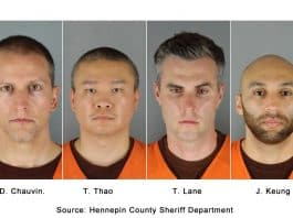 D. Chauvin, T. Thao, T. Lane, J. Keung. Source: Hennepin County Sheriff Department