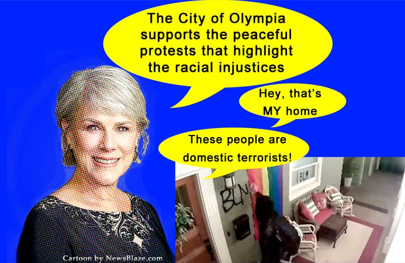 Cheryl Selby Supports Domestic Terrorists. Cartoon by NewsBlaze