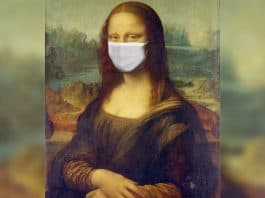 mona lisa with face mask. Image by Sumanley xulx from Pixabay, styled by NewsBlaze