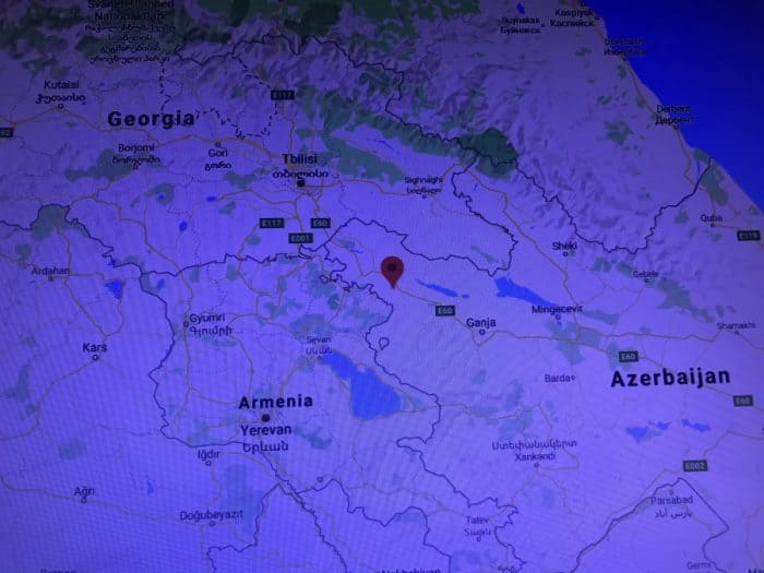 Screenshot the village of Dondar Gushchu in Azerbaijan's Tovuz district targeted by Armenia.