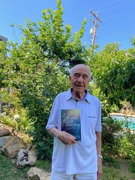 freedom and Liberty - Joseph 'Joe' Samuels in his Santa Monica garden with his book - Photo credit Joe Samuels