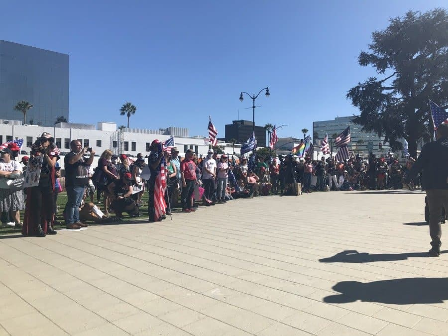 Rally Crowd in Beverly Hills - Photo credit Nurit Greenger