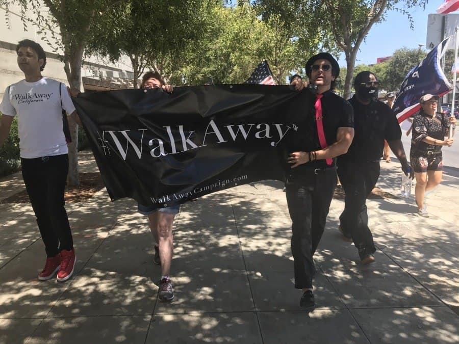 #WalkAway banner-Brandon Straka - Photo credit Nurit Greenger
