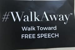 #WalkAway banner, Rescue America Rally - Photo credit Nurit Greenger