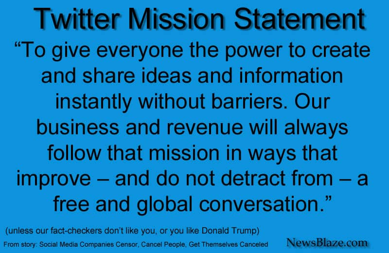 Twitter Mission Statement - image by NewsBlaze.