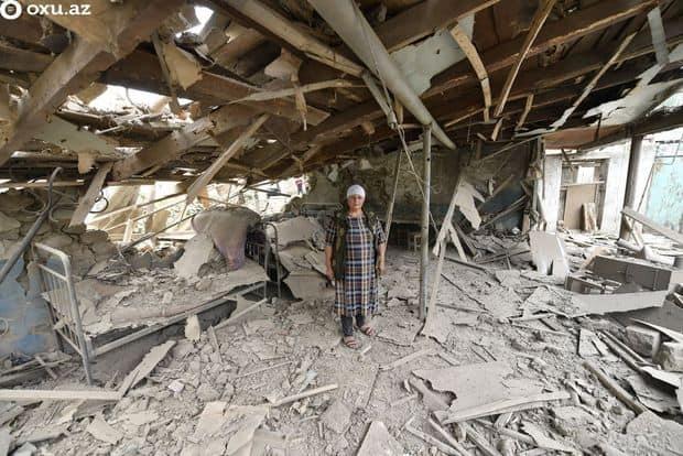 Destruction in Azerbaijan caused by Armenia. - Photo by oxo.az c/o Azerbaijan Consulate General.