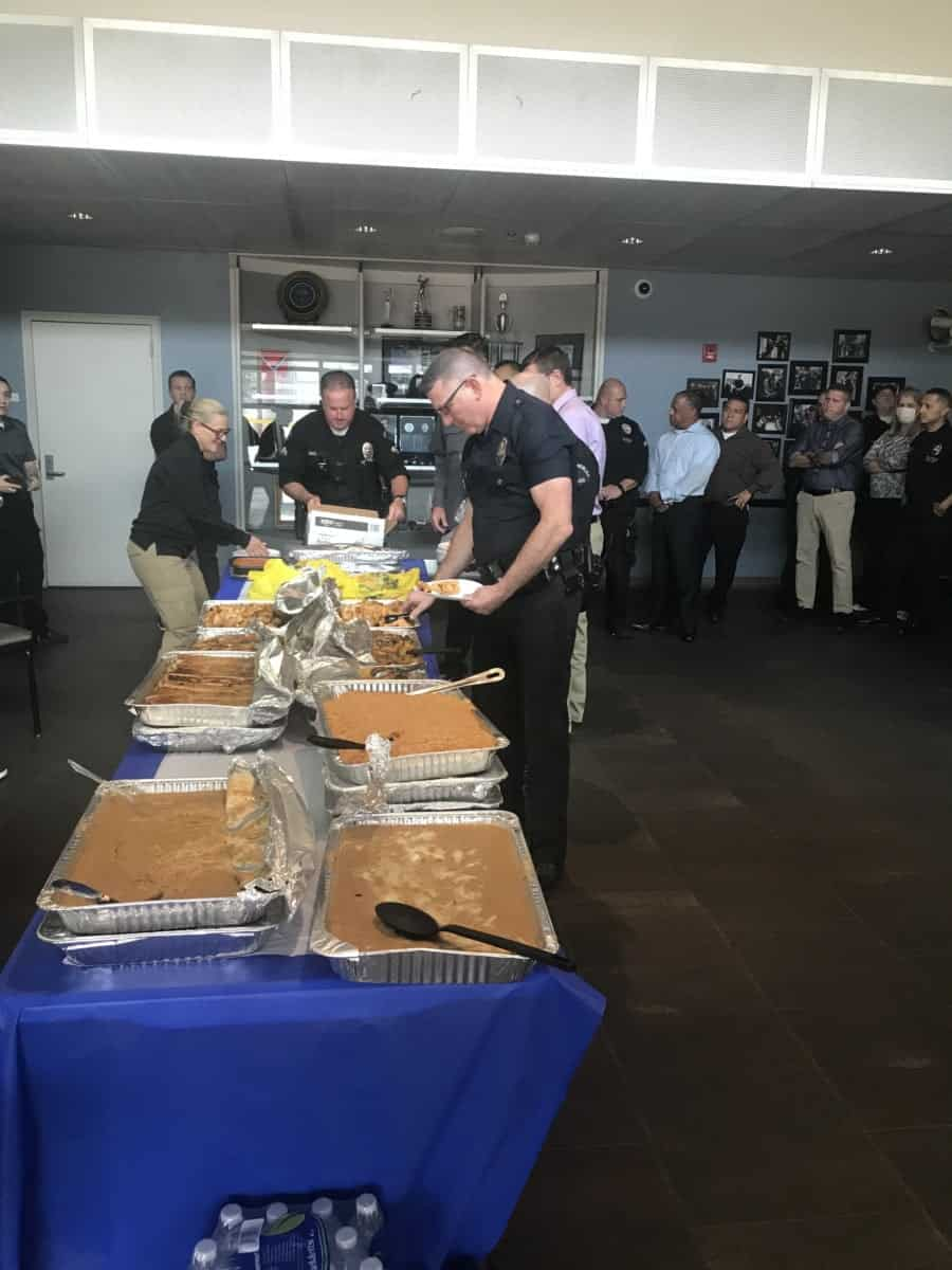 Good meal serves good morale, Churches In Action lunch served at the LAPD North Hollywood Station- NewsBlaze Photo by Nurit Greenger