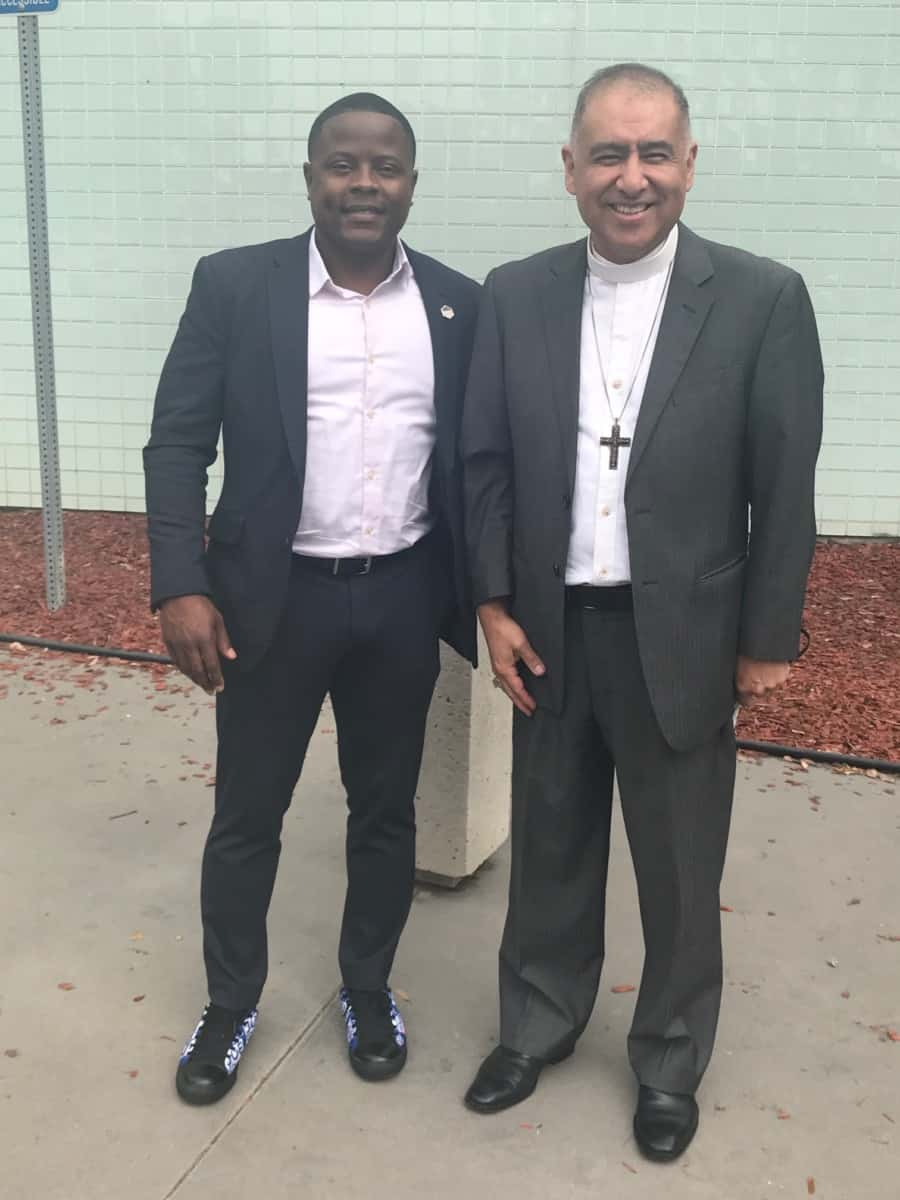 Bishop Juan Carlos Mendez and Congressional Candidate Joe Collins