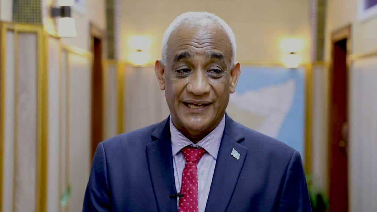 Former international Minister Hamza Said Hamza appointed Somali minister for youth and sport. Photo: Shafi'i Mohyaddin Abokar