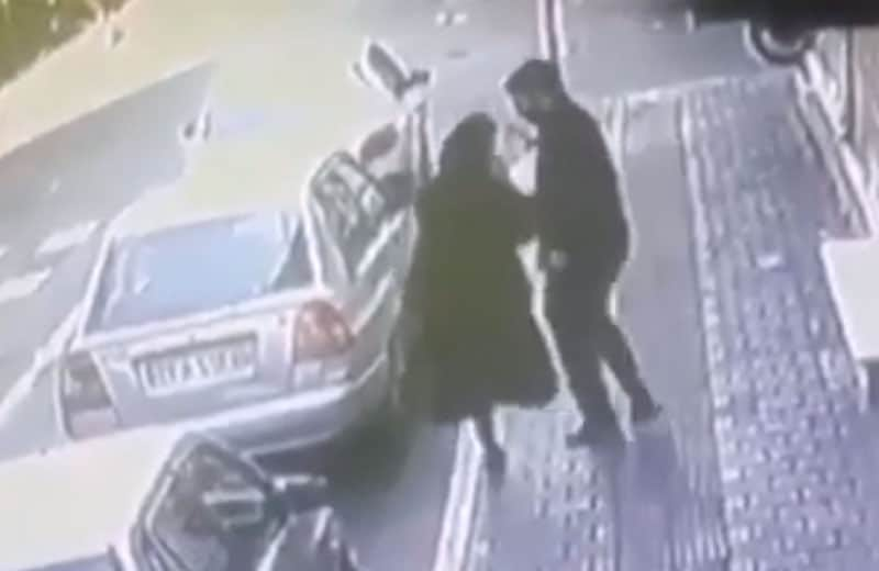 iran man hits woman
