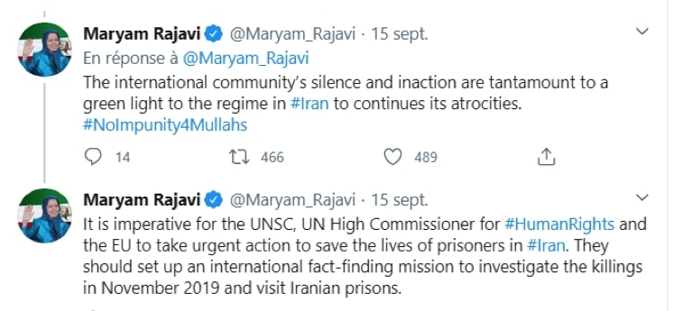 Maryam Rajavi asks for international action against torture