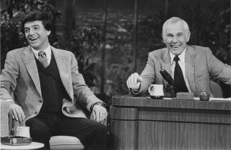 Tom Dreesen and Johnny Carson. Photo c/o Tom Dreesen.