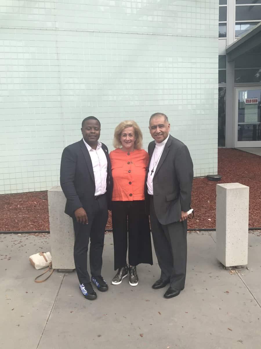 With Joe Collins and Bishop Juan Carlos Mendez