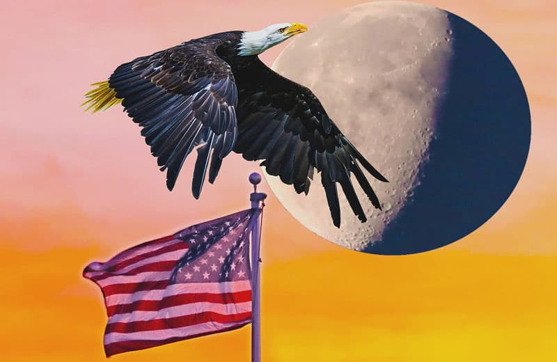 Americanism, American flag and eagle. Image by GeorgeB2 from Pixabay