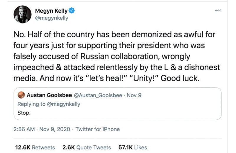 Megyn Kelly tweet