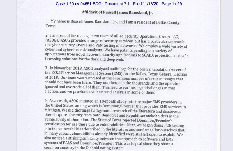hack us elections ramsland affidavit