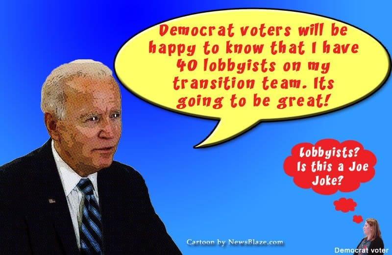 joe 40 lobbyists Cartoon by NewsBlaze.