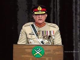 Pakistan Army Chief, General Qamar Javed Bajwa. NewsBlaze cartoon