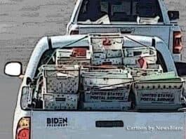 bidenmail open back truckpractice run