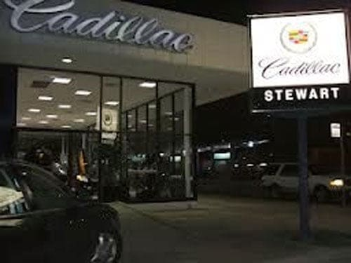 stewart cadillac dealership houston. Photo by Clarence Walker.