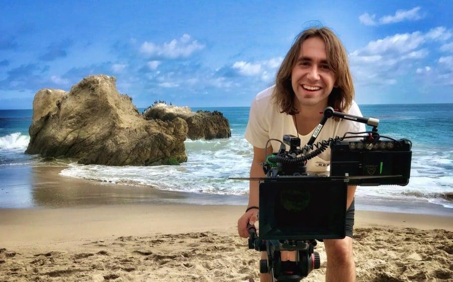 Hunter Hopewell behind the scenes of Shellfish