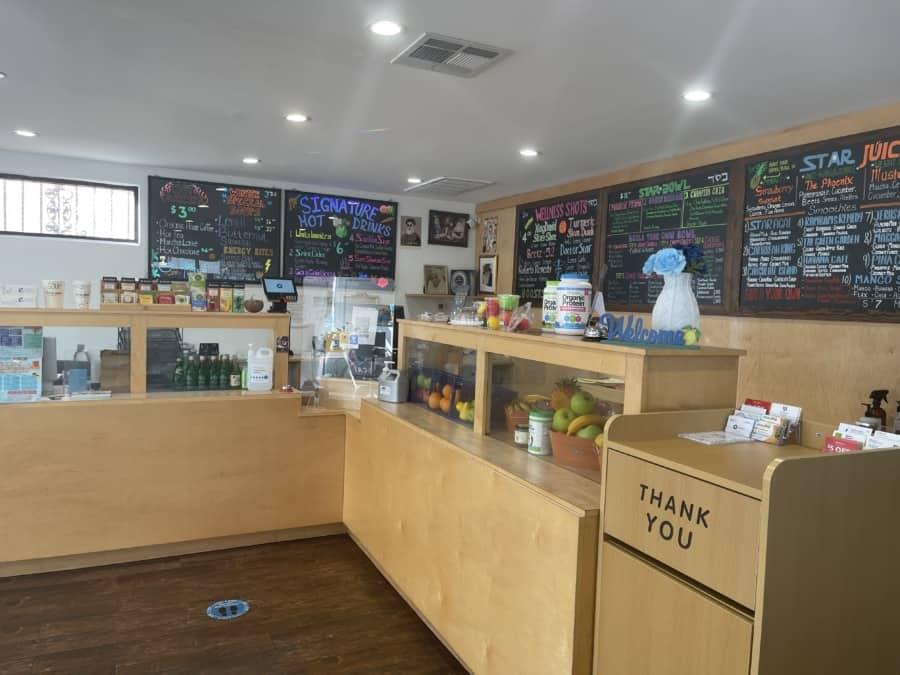 Star Juice store counter - Photo credit Nurit Greenger