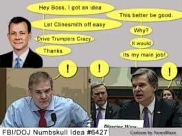 FBI Strzok idea #6427 to further destroy the FBI's reputation. NewsBlaze Cartoon.