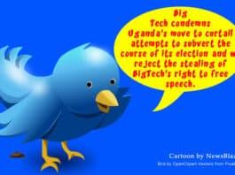 twitter condemns loss of free speech in uganda