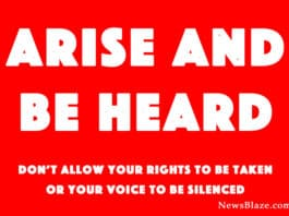 arise and be heard for the Constitutional Republic. Banner by NewsBlaze.com