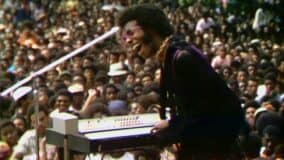 "Sly Stone at 1969 Harlem Cultural Festival, seen in ""Summer Of Soul."" Photo: courtesy Sundance Institute"