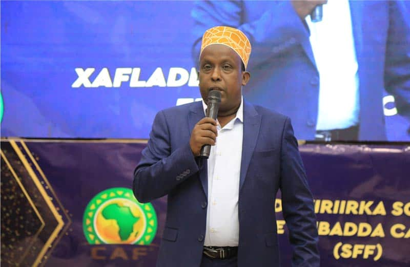 Speaking CAF committee. Photo: Omar Ibrahim Abdisalam
