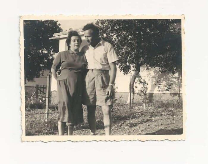 1947, Rachel Katz-Gringer & Yisrael-Gringer in Israel - Photo credit Nurit Greenger private album
