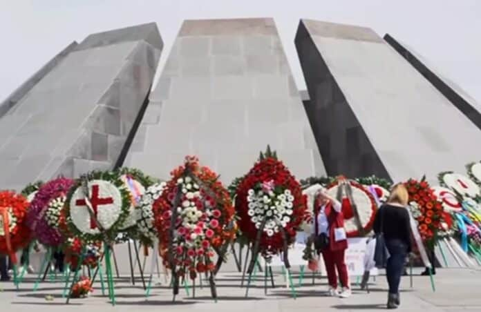 Armenia Memorial, Biden genocide recognition. Image from youtube screenshot.