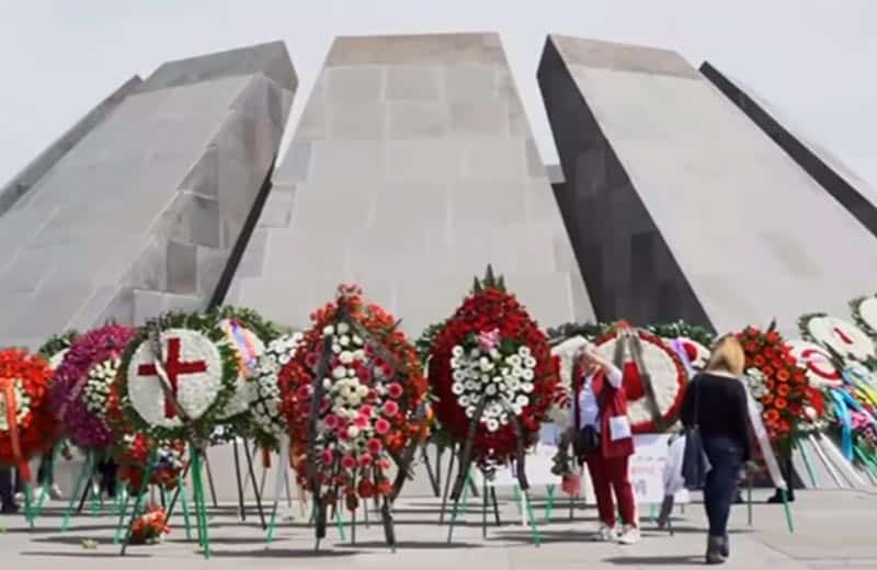Armenia Memorial, Biden genocide recognition. Image from youtube screenshot.