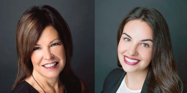 Debbie Mercer-Erwin and Kayleigh Moffett. Photos: National Aircraft Finance Association