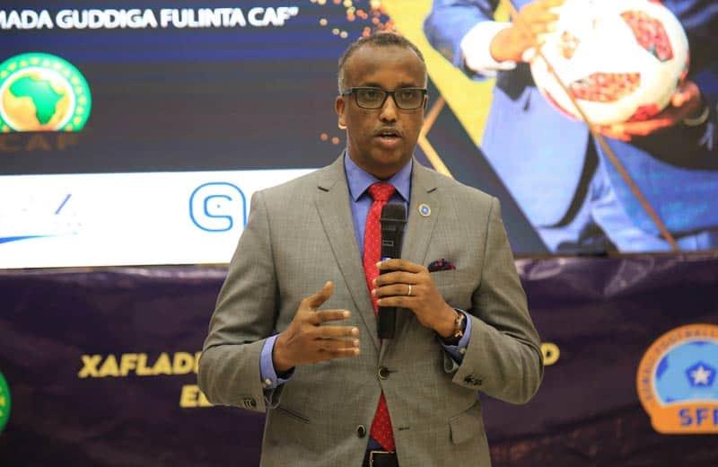 minister of labour social affairs former somali noc president duran ahmed farah Photo: Omar Ibrahim Abdisalam
