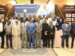 sff officials with government ministers mps and somali football stakeholders. Photo: Omar Ibrahim Abdisalam