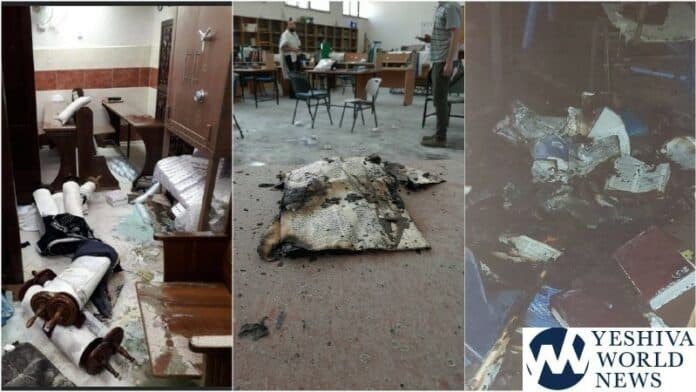 Shared existence in Israel? Synagogue desecration.