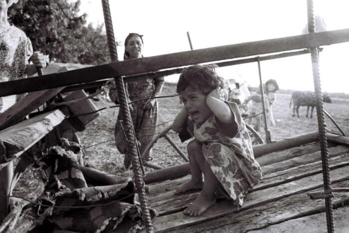 800,000 Azerbaijanis forcibly displaced by Armenia with Azerbaijani women hostages used as slaves. Photo: Vladimir Bogdanovskiy exhibition, Azerbaijan Museum