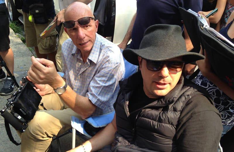 Tango Shalom Gabriel Bologna Director hat and Massimo Zeri cinematographer