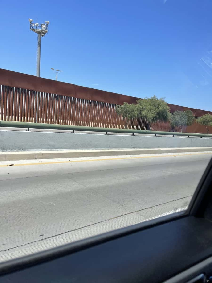 President Trump's wall on the Southern California border with Mexico that has been 100% effective. Migrants who chose to arrive to that border have no way to enter U.S legally and thus are stuck in Mexico - Photo credit Nurit Greenger