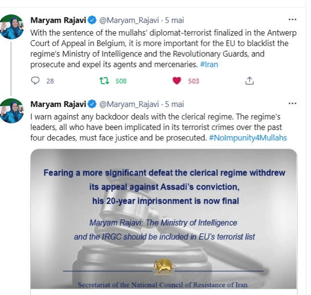 rajavi call to add irgc to eu terrorist list