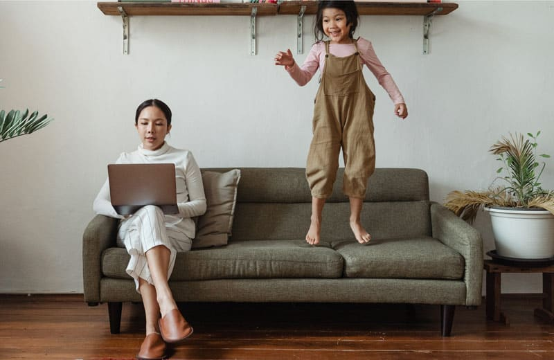 family and working in home office. Photo by Ketut Subiyanto from Pexels