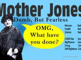 mother jones liberal magazine vaccine woke. Cartoon by NewsBlaze