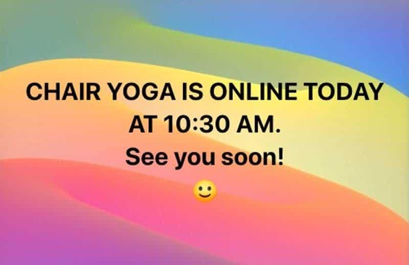 chair yoga banner