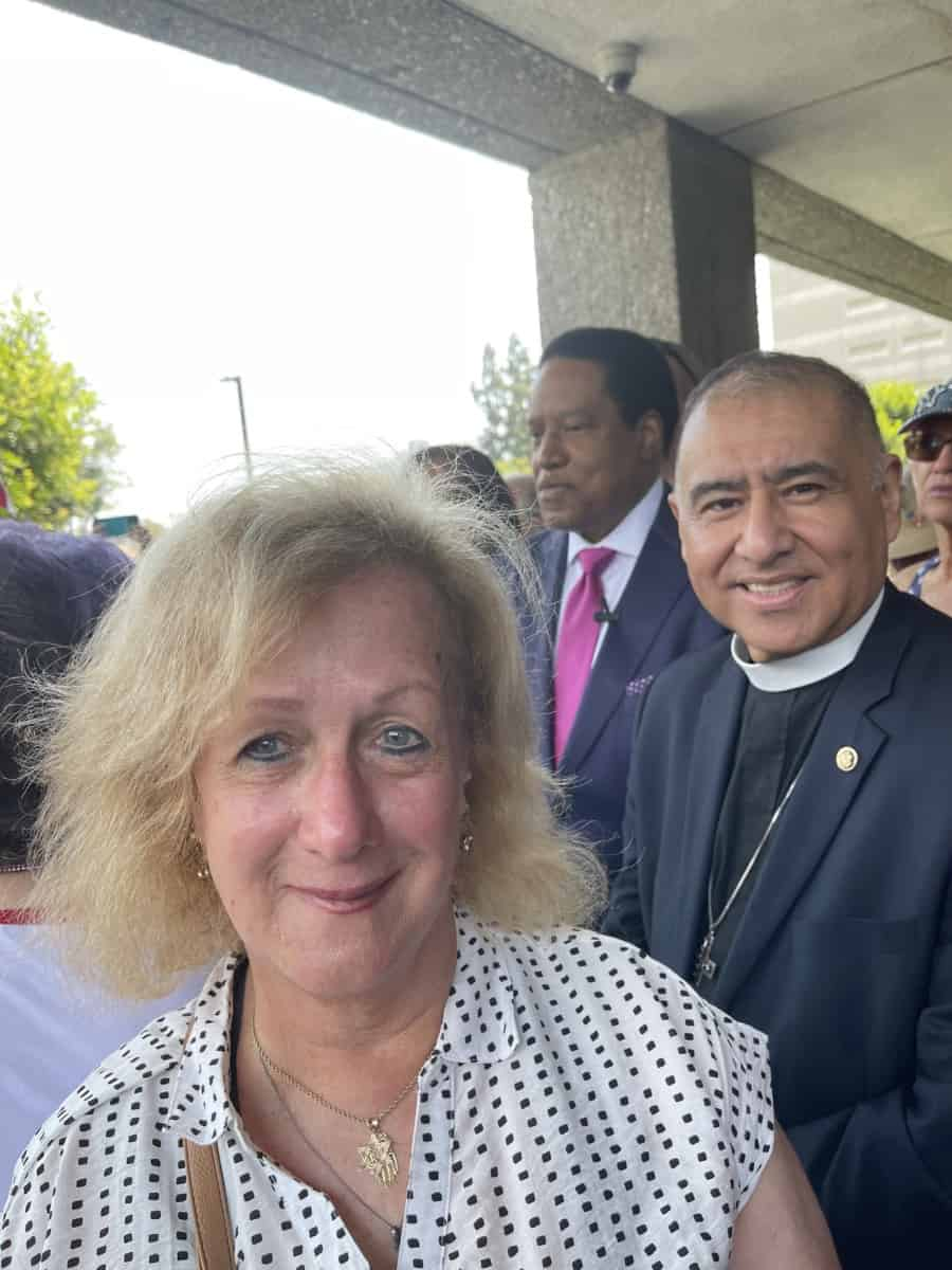 selfie with Larry and Bishop Juan Carlos Mendez-Churches For Action who gave Larry a Godly blessing. Photo: Nurit Greenger.
